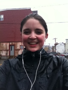 Who's that? Just a happy runner who didn't feel tied to her original training schedule.