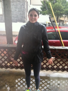 Running in the rain. Like Singing in the Rain ... without the musical numbers.