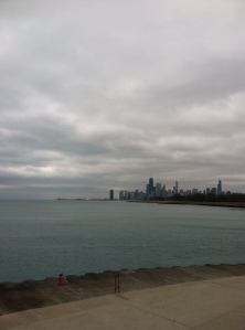 Running with a different skyline this week: Chicago's!