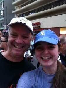 My dad and I at the starting line!